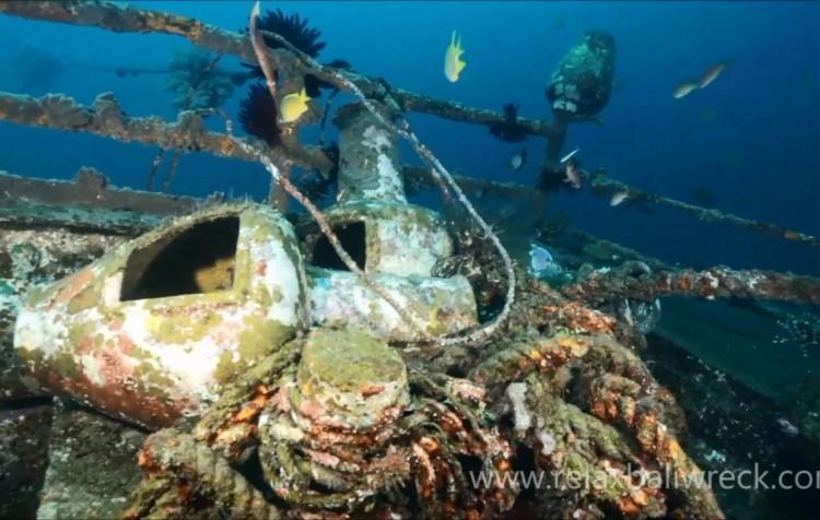 Relax Bali wreck - vlastní vrak